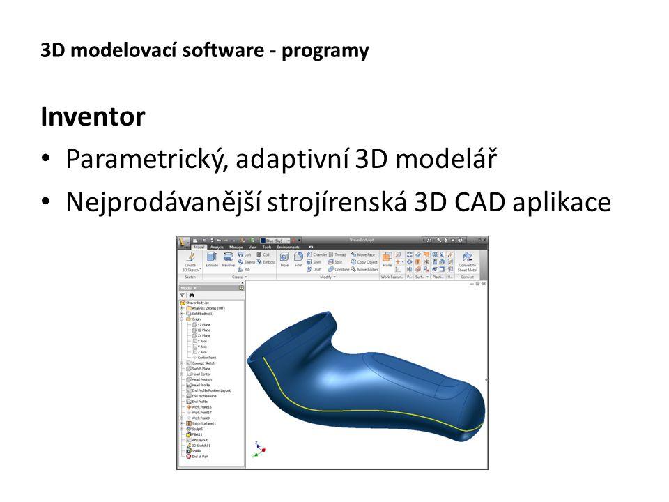 3D modelovací software - programy Cinema 4D Multiplatformní program pro 3D grafiku Komplexní program