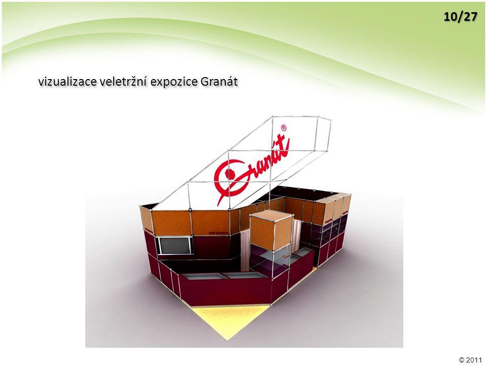 © 2011 vizualizace veletržní expozice Granát 10/27