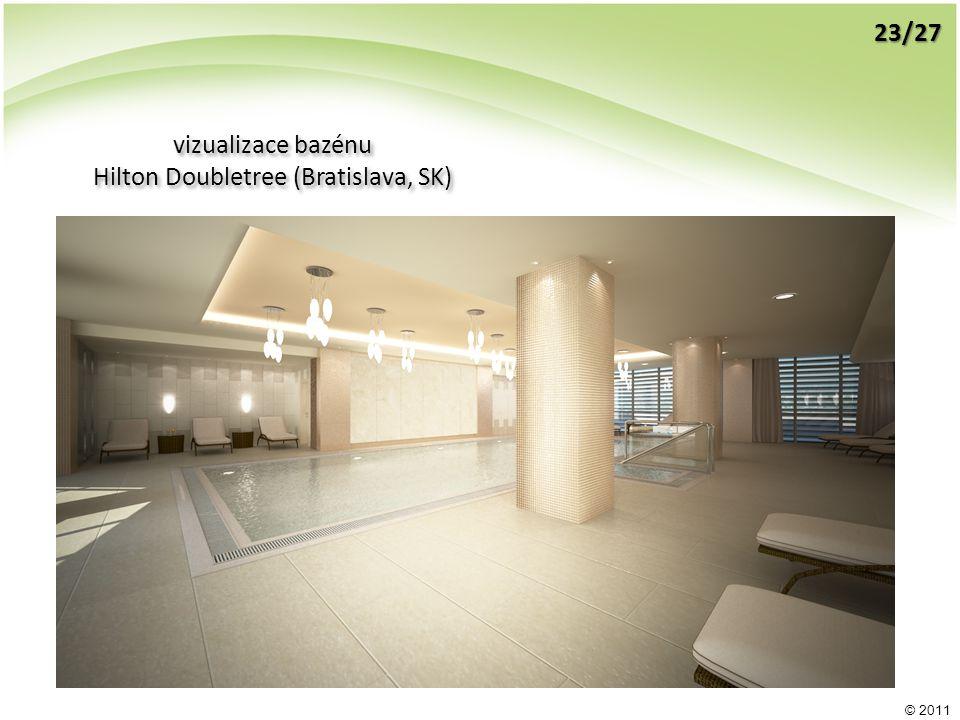 © 2011 vizualizace bazénu Hilton Doubletree (Bratislava, SK) vizualizace bazénu Hilton Doubletree (Bratislava, SK) 23/27