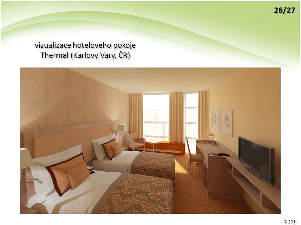 © 2011 vizualizace hotelového pokoje Thermal (Karlovy Vary, ČR) vizualizace hotelového pokoje Thermal (Karlovy Vary, ČR) 26/27
