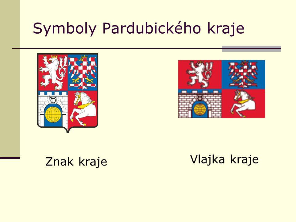 Symboly Pardubického kraje Znak kraje Vlajka kraje