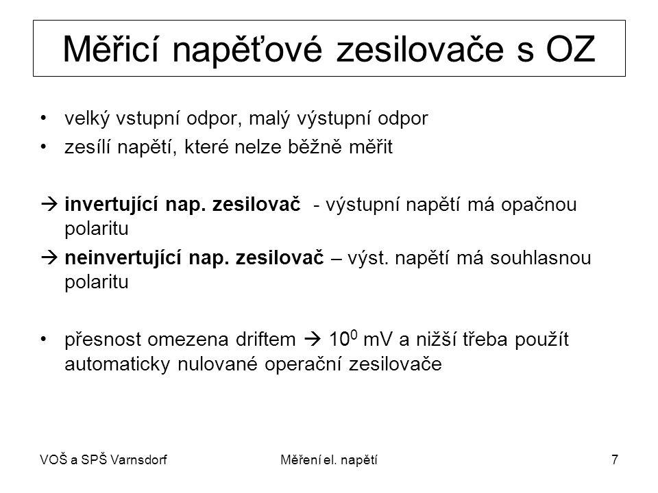 VOŠ a SPŠ VarnsdorfMěření el.napětí8 Invertující zapojení nap.
