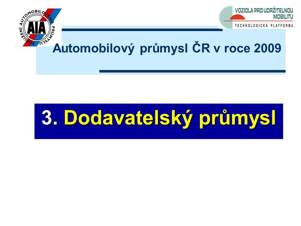 3. Dodavatelský průmysl Automobilový průmysl ČR v roce 2009