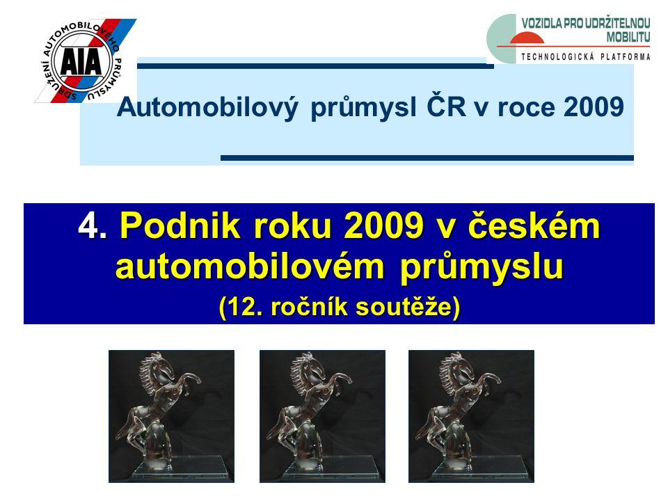 4. Podnik roku 2009 v českém automobilovém průmyslu (12.