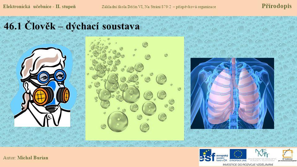 46.1 Člověk – dýchací soustava Elektronická učebnice - II.