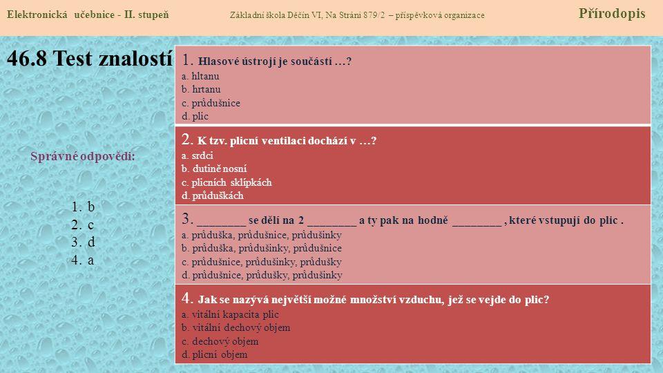 46.8 Test znalostí Elektronická učebnice - II.