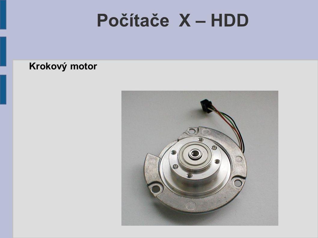Počítače X – HDD Krokový motor