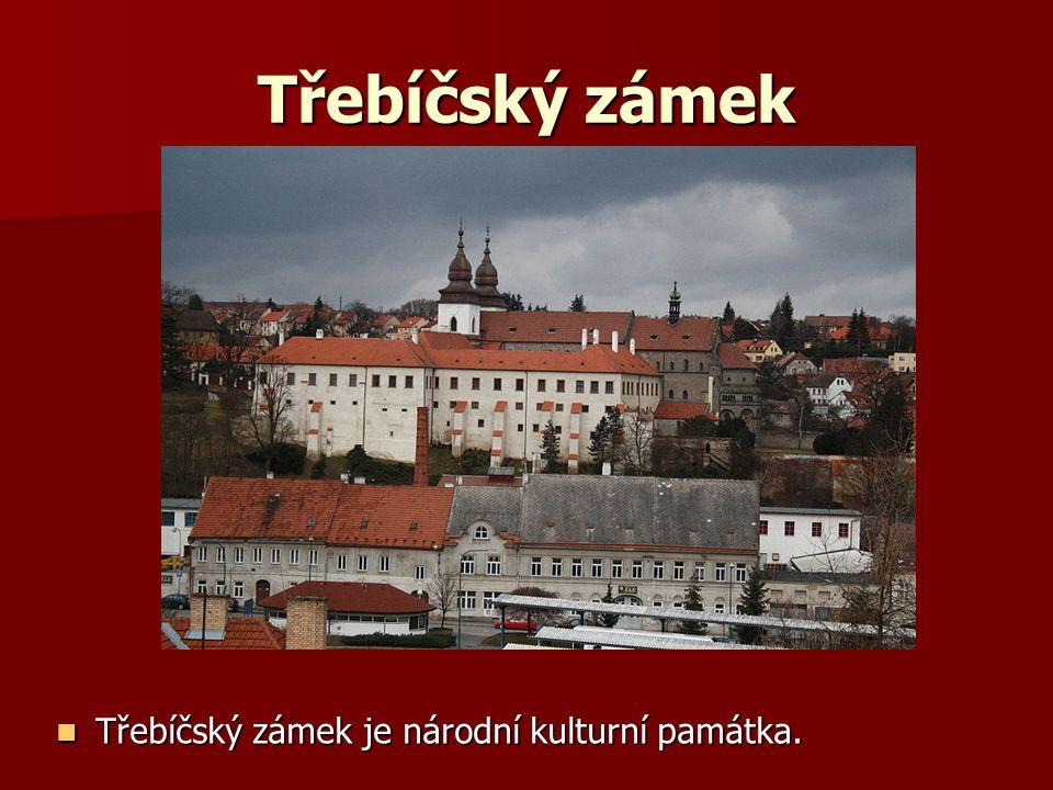 Třebíčský zámek Třebíčský zámek je národní kulturní památka.