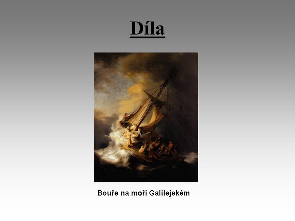 Díla Bouře na moři Galilejském