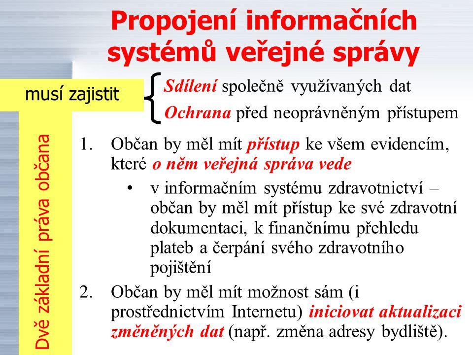 Globálně dostupné identifikátory základních registrů OBYVATELE IDENTIFIKÁTOR NEMOVITOSTI IDENTIFIKÁTOR EKONOM ICKÉHO SUBJEKTU (právnických i fyzických osob) Územně identifikační registr IDENTIFIKÁTOR (inženýrských sítí, motorových vozidel, policejní, vojenský...