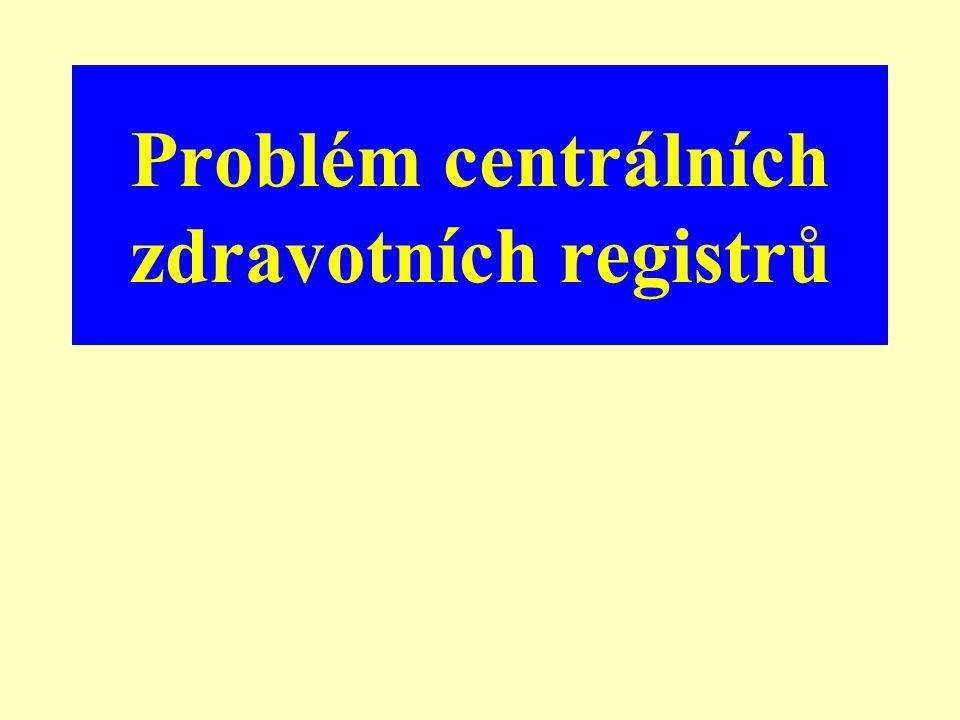Problém centrálních zdravotních registrů