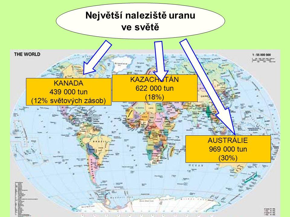 U 92 235 U 92 238 Izotopy uranu vhodné k získávání energie pomocí štěpení Doba rozpadu uranu 235 je 0,7 miliard let, u uranu 238 je to 4,5 miliard let