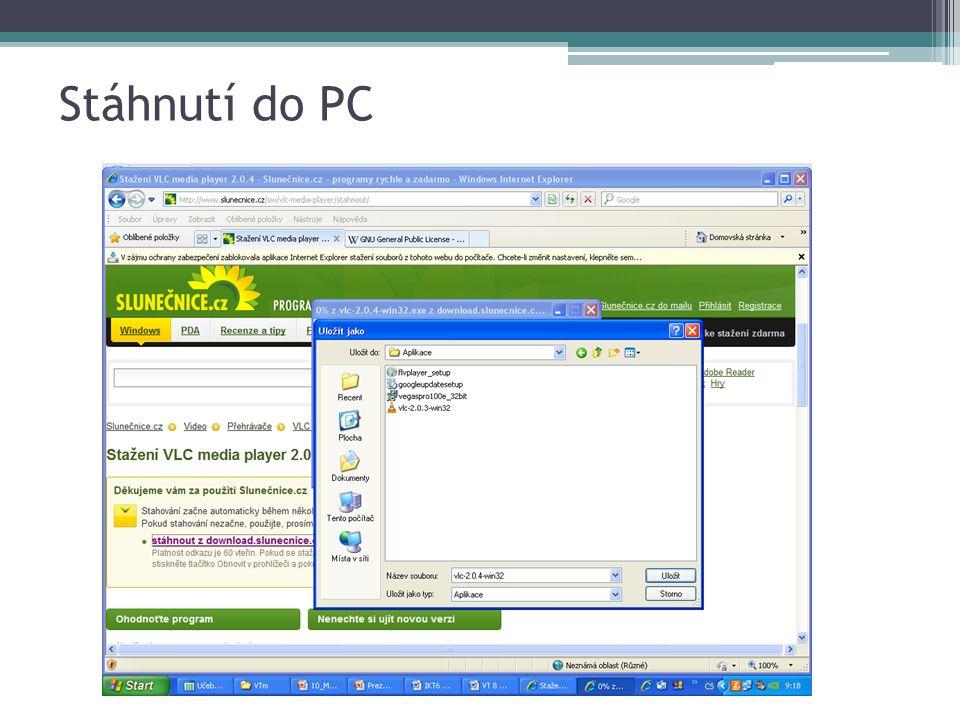 Stáhnutí do PC