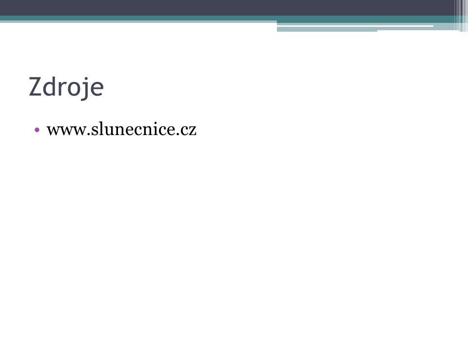 Zdroje www.slunecnice.cz