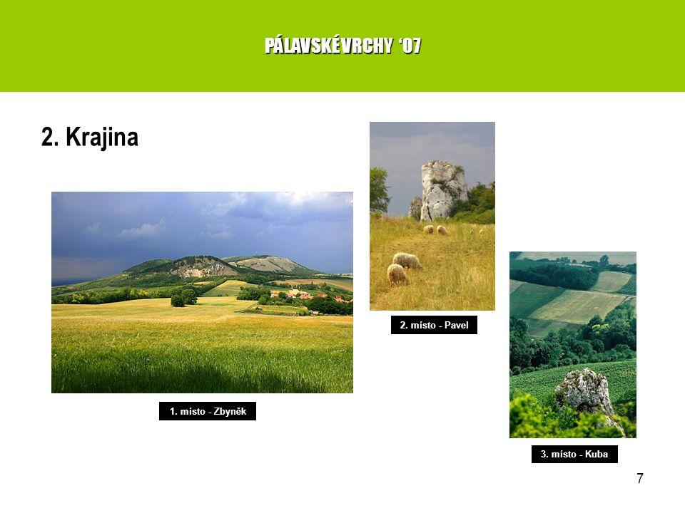 7 2. Krajina PÁLAVSKÉ VRCHY '07 1. místo - Zbyněk 2. místo - Pavel 3. místo - Kuba
