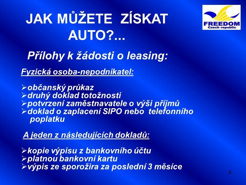 17 Pořizovací cena s DPH: 324 928 Prodejní cena s DPH: 1 190 Smluvní poplatek s DPH: 12 000 Měsíční splátka s DPH: (12%úrok) 0 Celková cena auta s DPH: 316,8 AB  Havarijní pojištění + poj.