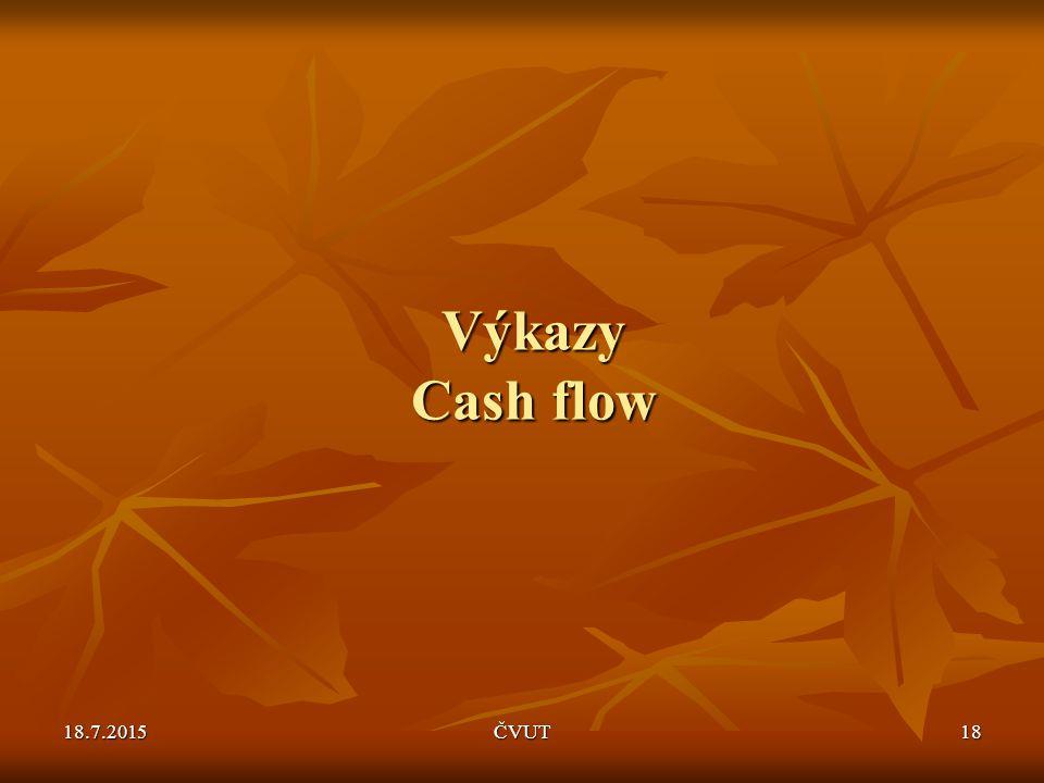 18.7.2015ČVUT18 Výkazy Cash flow