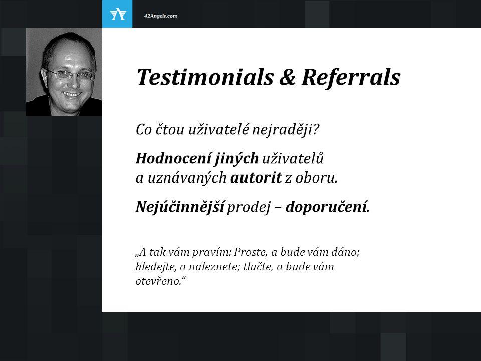 """Testimonials & Referrals Co čtou uživatelé nejraději? Hodnocení jiných uživatelů a uznávaných autorit z oboru. Nejúčinnější prodej – doporučení. """"A ta"""