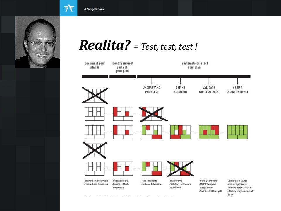 Realita? = Test, test, test !
