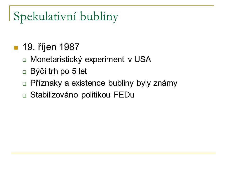 Spekulativní bubliny 19.