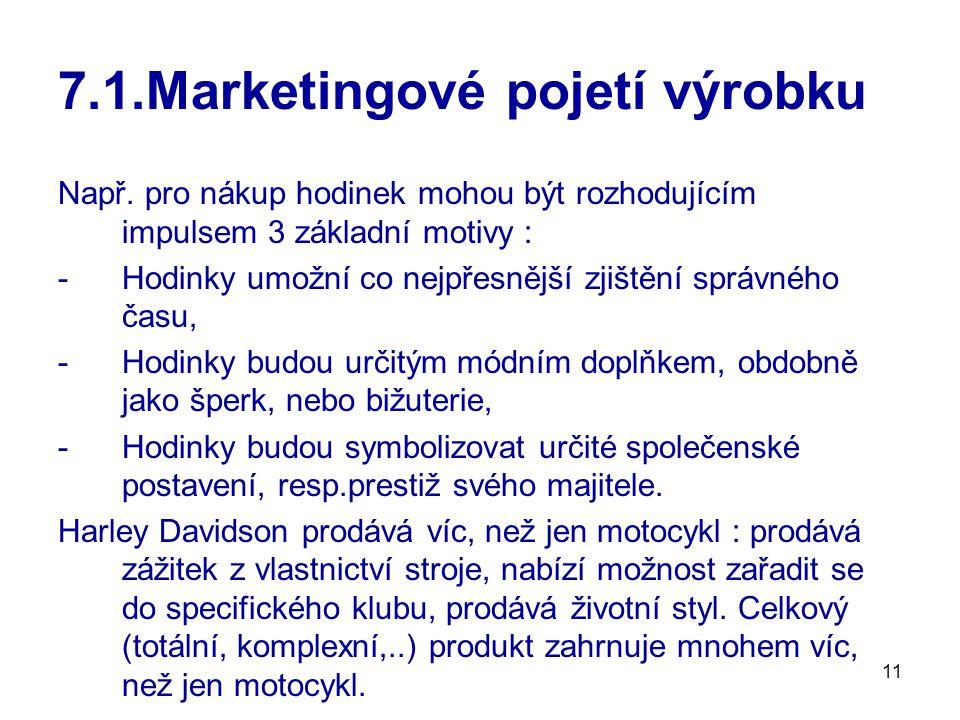 11 7.1.Marketingové pojetí výrobku Např.