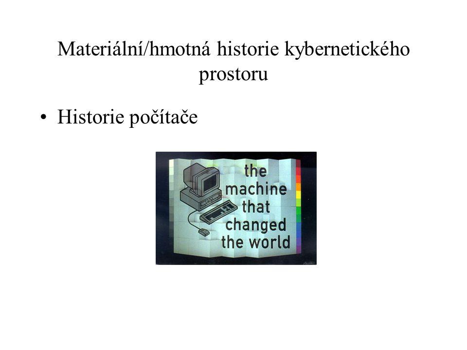 Materiální/hmotná historie kybernetického prostoru Historie počítače