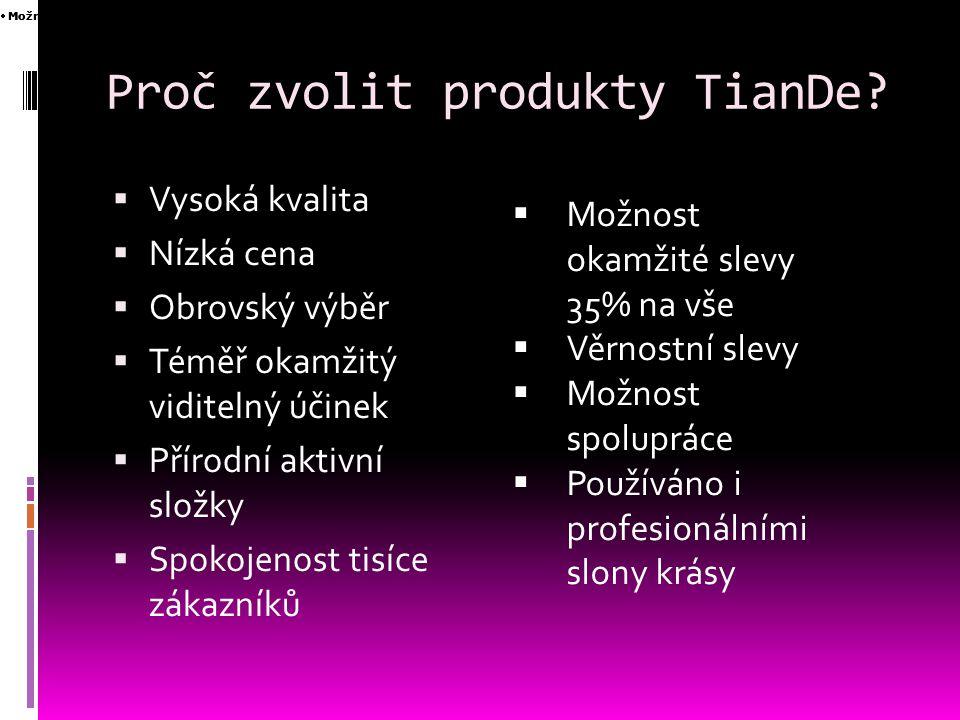 Čím je kosmetika TianDe výjimečná.