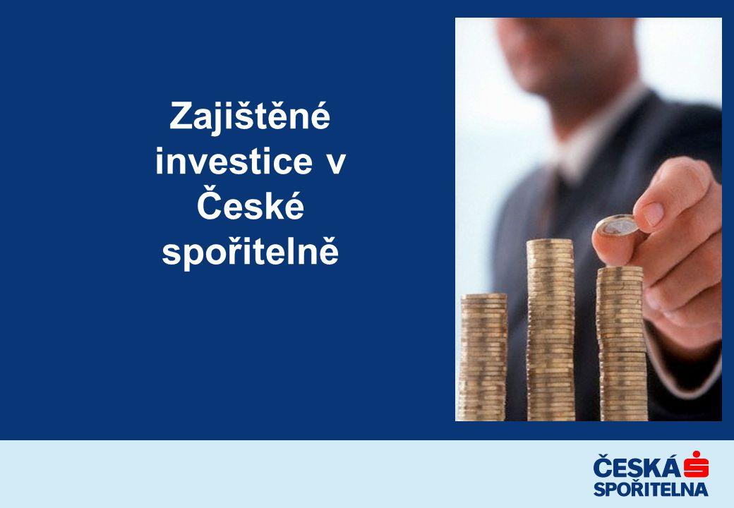 Zajištěné investice v České spořitelně