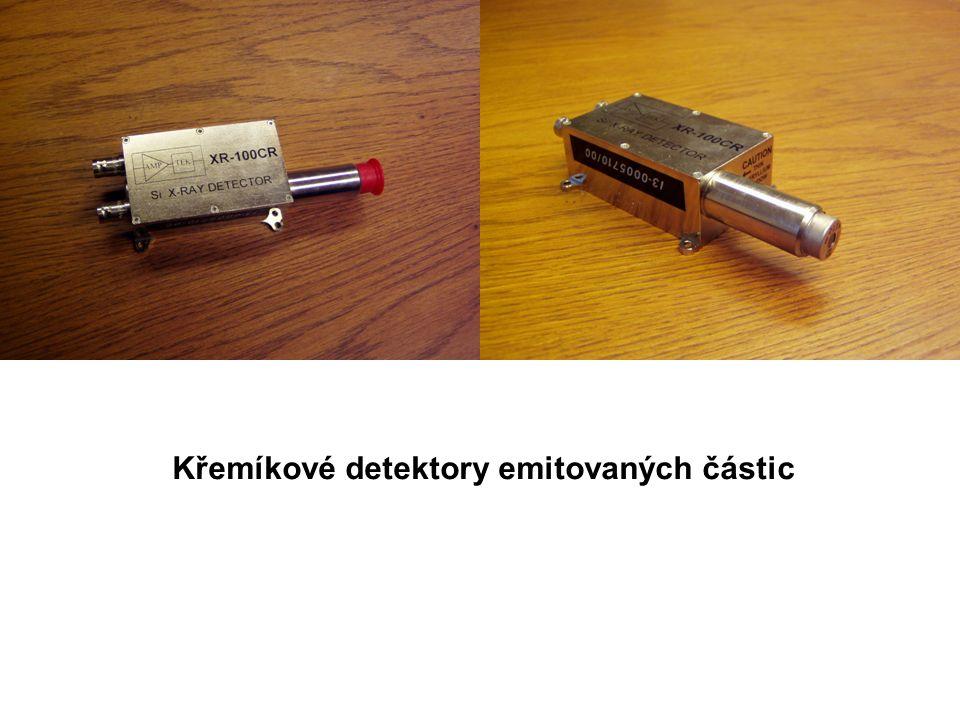 Křemíkové detektory emitovaných částic