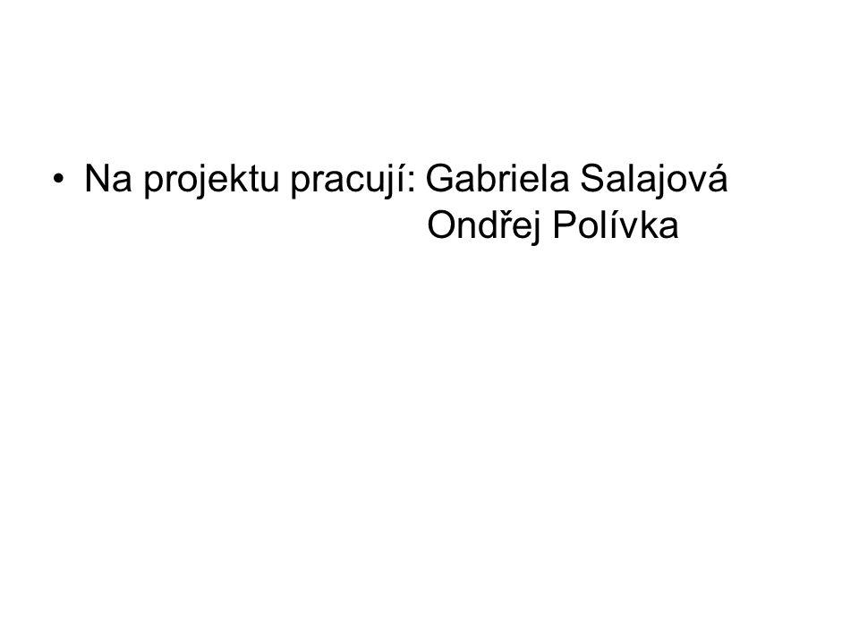 Na projektu pracují: Gabriela Salajová Ondřej Polívka