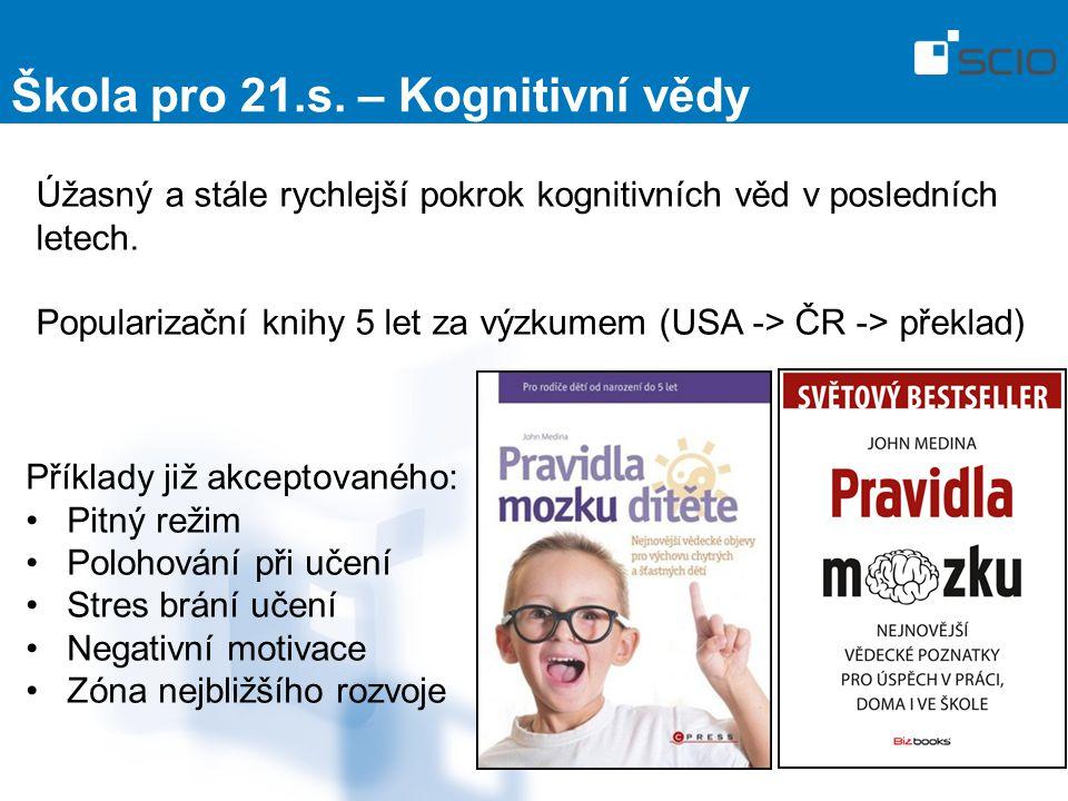 Úžasný a stále rychlejší pokrok kognitivních věd v posledních letech. Popularizační knihy 5 let za výzkumem (USA -> ČR -> překlad) Škola pro 21.s. – K