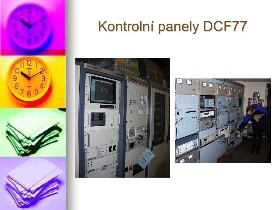 Kontrolní panely DCF77