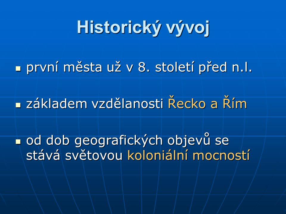 Historický vývoj první města už v 8.století před n.l.