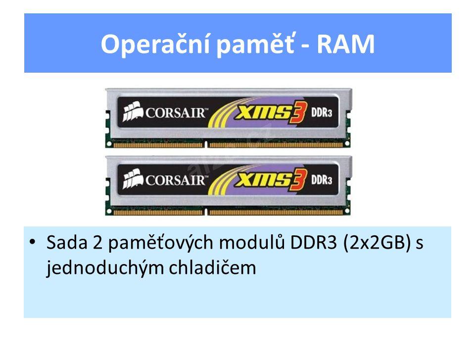 Zobrazuje obraz na monitoru Výkon určuje typ grafického čipu a velikost RAM Údajem je maximální rozlišení (např.