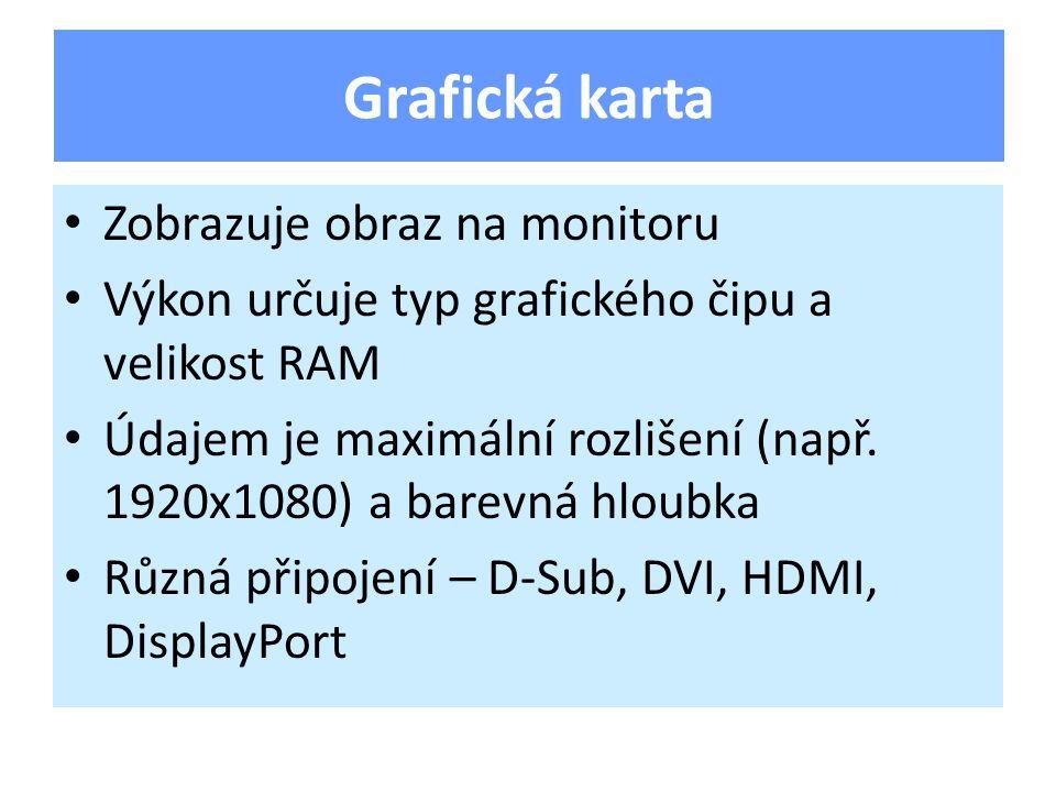 D-Sub HDMI DVI PCI -E rozhraní