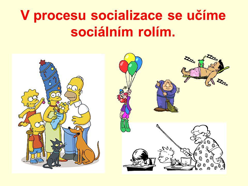 V procesu socializace se učíme sociálním rolím.