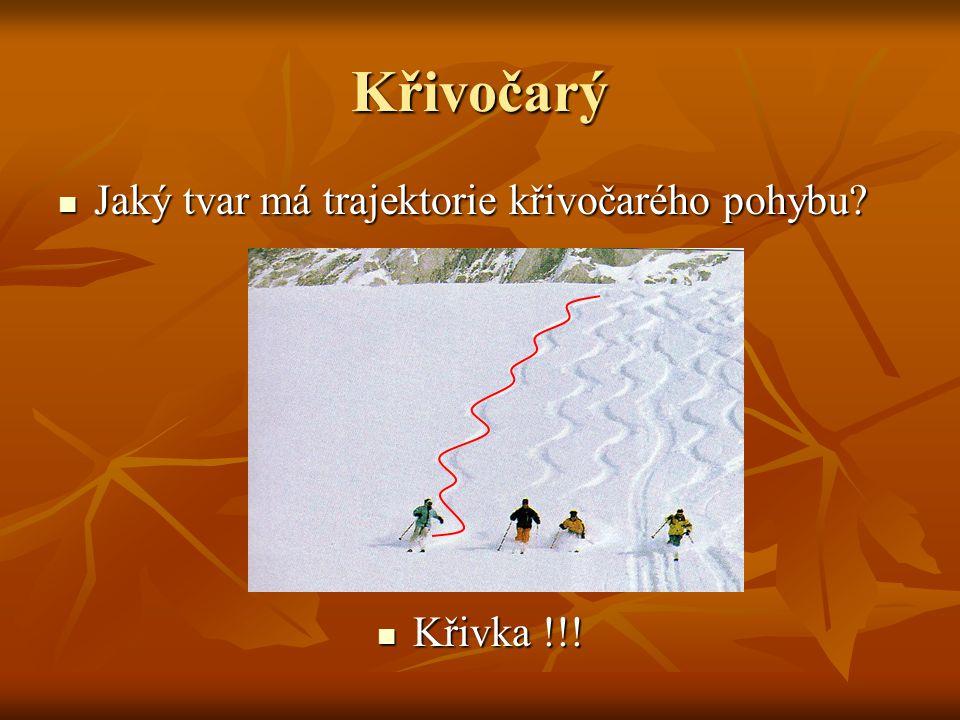 Přímočarý Jaký Jaký tvar má trajektorie přímočarého pohybu? Přímka Přímka !!!