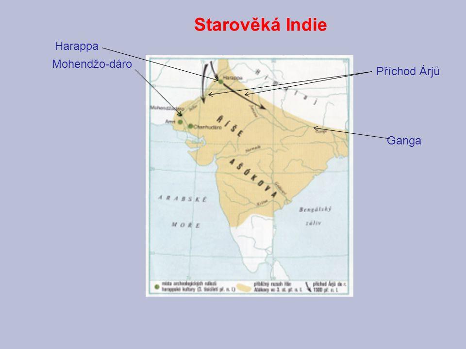Mohendžo-dáro Starověká Indie Harappa Příchod Árjů Ganga