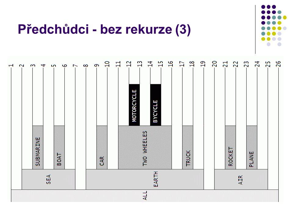 Předchůdci - bez rekurze (3)