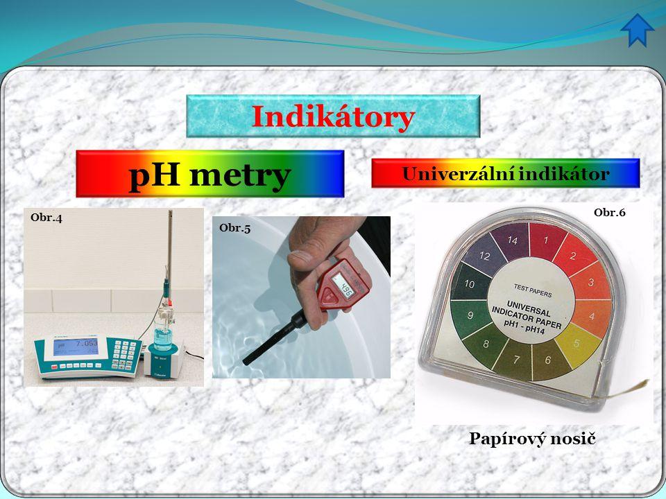 Indikátory pH metry Obr.4 Univerzální indikátor Obr.6 Papírový nosič Obr.5
