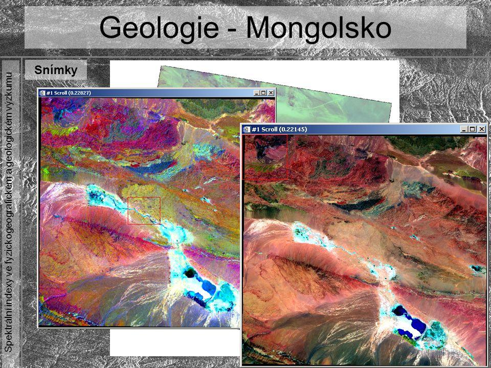 Spektrální indexy ve fyzickogeografickém a geologickém výzkumu Geologie - Mongolsko Snímky