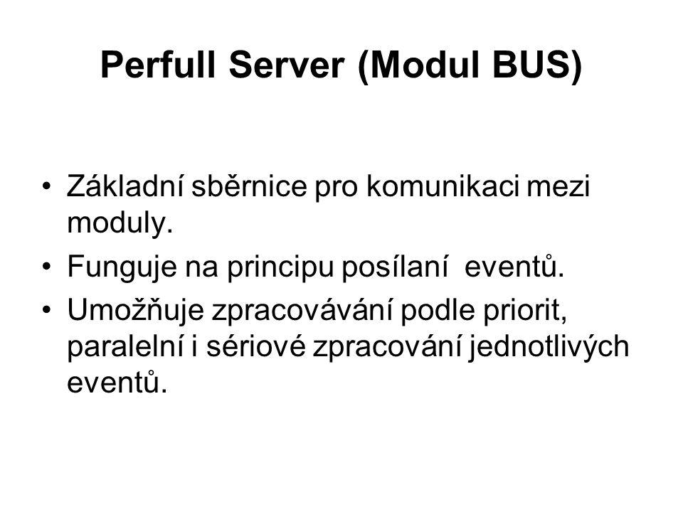 Perfull Server (Modul BUS) Základní sběrnice pro komunikaci mezi moduly.