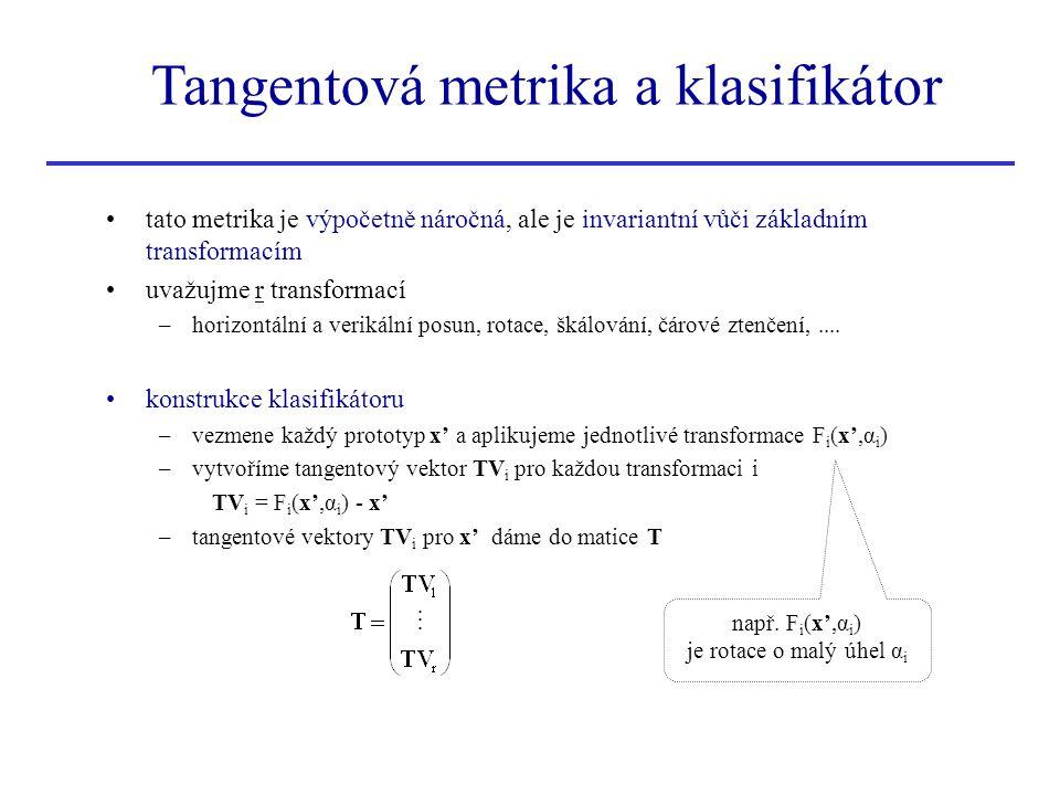 tato metrika je výpočetně náročná, ale je invariantní vůči základním transformacím uvažujme r transformací –horizontální a verikální posun, rotace, šk