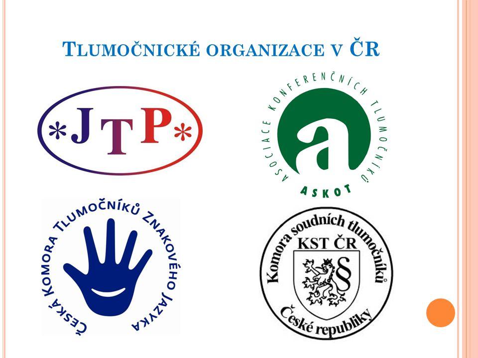 T LUMOČNICKÉ ORGANIZACE V ČR