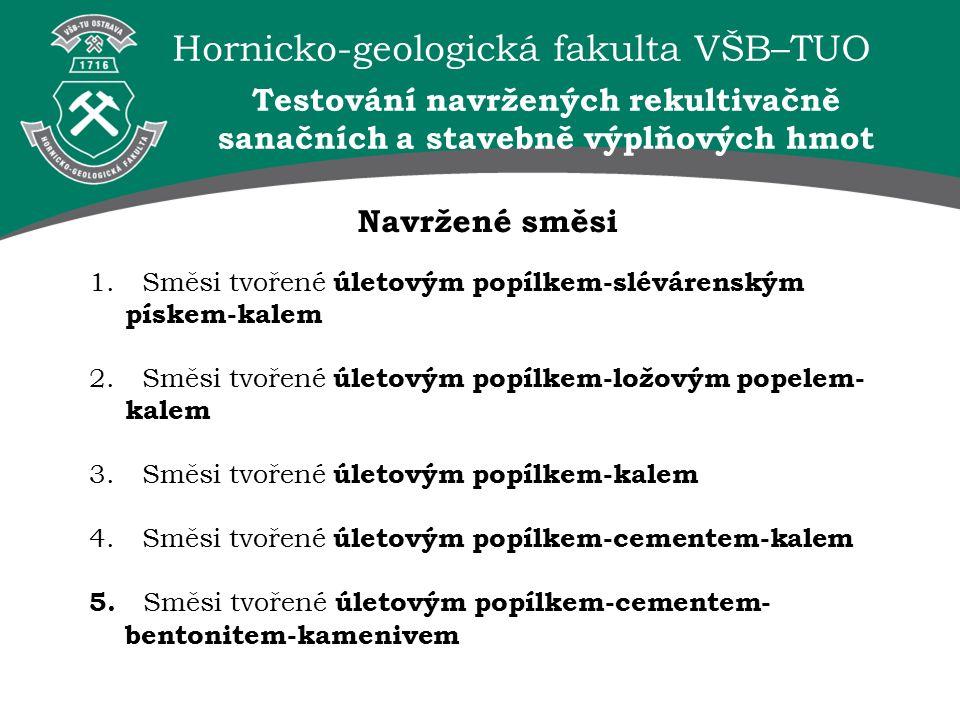 Hornicko-geologická fakulta VŠB–TUO Navržené směsi 1.
