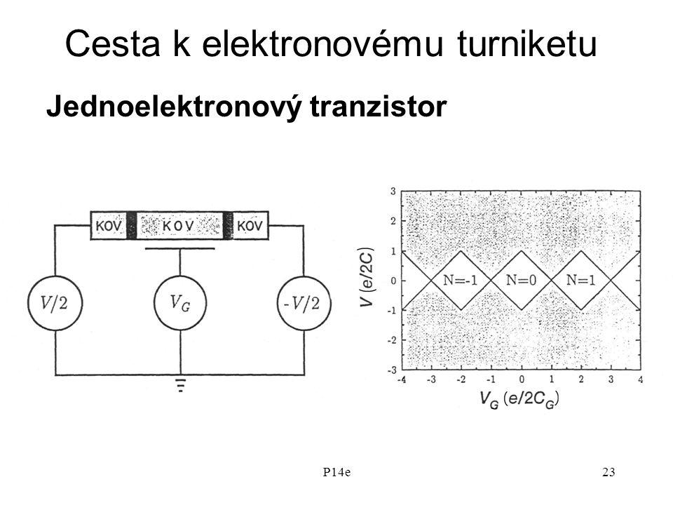 P14e23 Cesta k elektronovému turniketu Jednoelektronový tranzistor