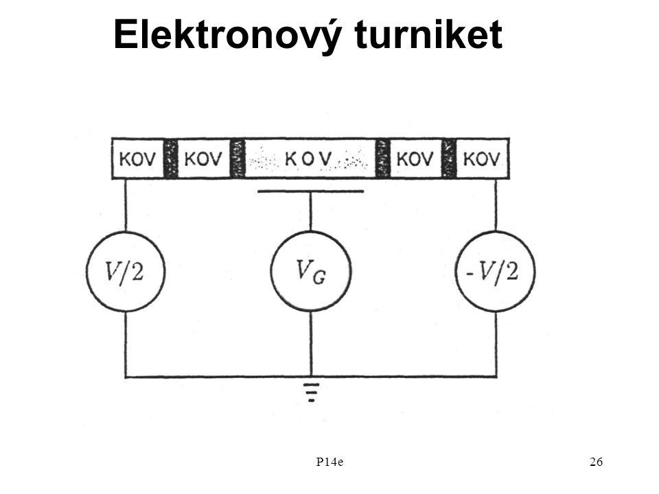 P14e26 Elektronový turniket