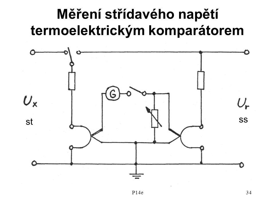 P14e34 Měření střídavého napětí termoelektrickým komparátorem ss st
