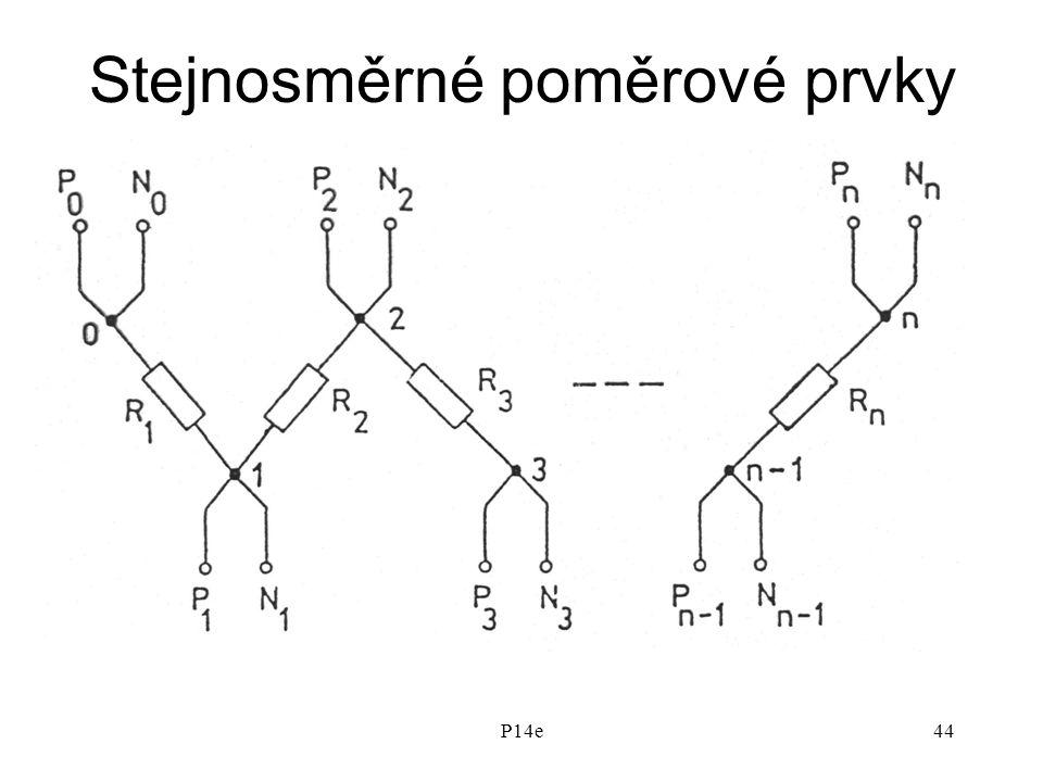 P14e44 Stejnosměrné poměrové prvky