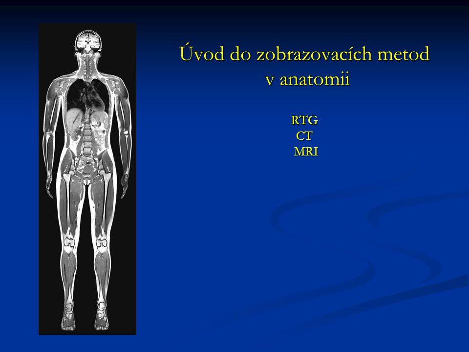 Úvod do zobrazovacích metod v anatomii RTG CT MRI